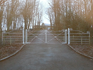 Rectory electric swing gates
